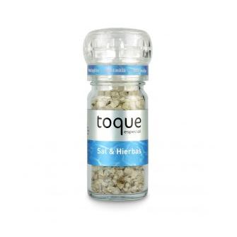 Toque sal con hierbas