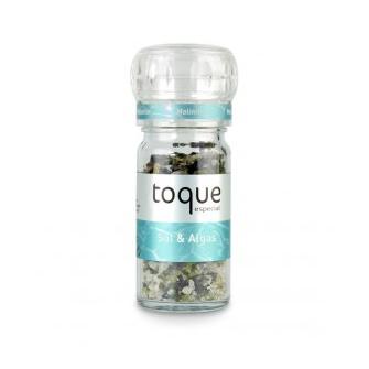 Toque sal con algas